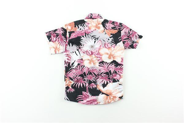 camicia mezza manica fantasia fiori STAY STREET | Camicie | CBN921NERO