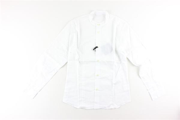 camicia tinta unita manica lunga collo coreano TAGLIATORE   Camicie   CA16BIANCO