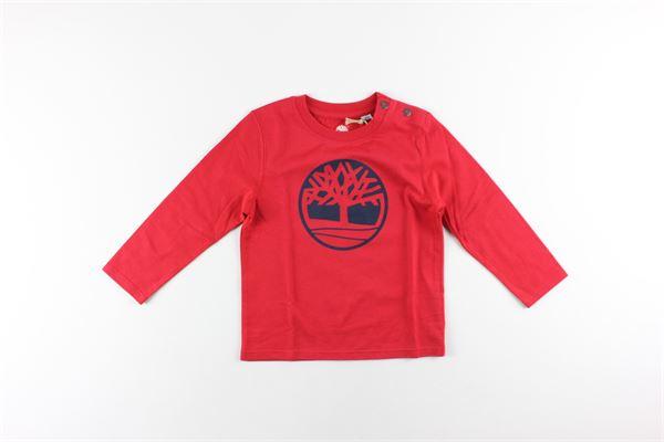 shirt tinta unita con stampa TIMBERLAND | Shirts | T05H22ROSSO