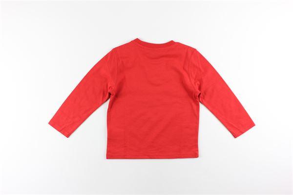 shirt tinta unita con stampa TIMBERLAND | Shirts | T05H83ROSSO