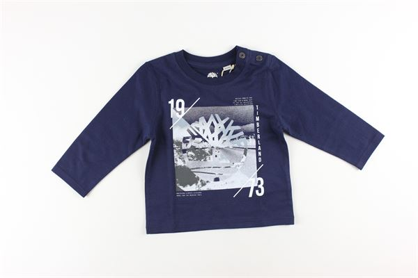 shirt tinta unita con stampa TIMBERLAND | Shirts | T05H84BLU