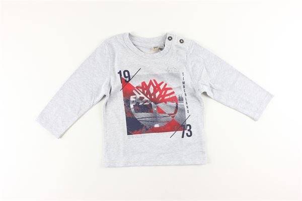 shirt tinta unita con stampa TIMBERLAND | Shirts | T05H84GRIGIO