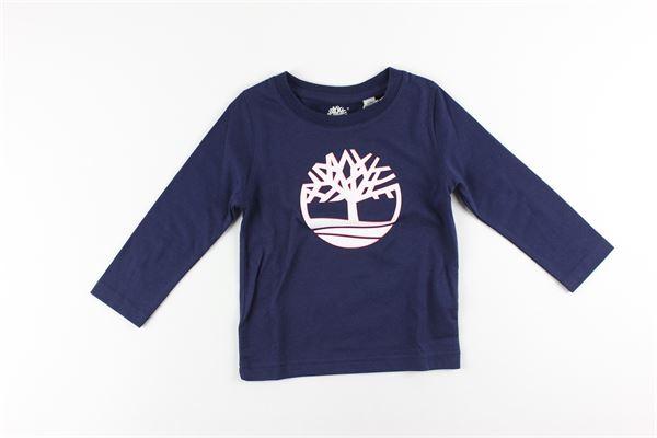 shirt tinta unita con stampa TIMBERLAND | Shirts | T25Q10BLU