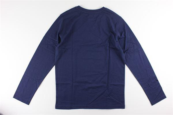 shirt tinta unita con stampa logo TIMBERLAND | Shirts | T28123BLU