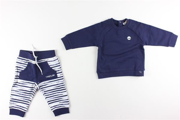 felpe girocollo tinta unita pantalone fantasia a righe TIMBERLAND | Completi | T98273BLU