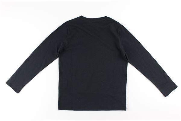 shirt tinta unita con stampa logo VERSACE | Shirts | YD000111NERO