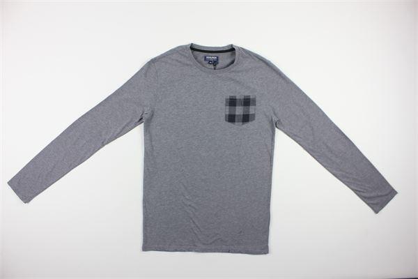 shirt tinta unita con taschino WOOLRICH | Shirts | 1830GRIGIO
