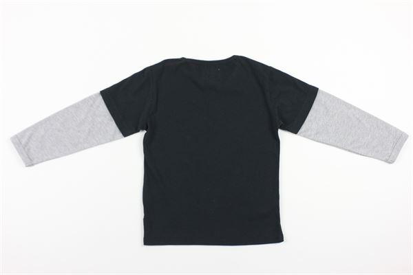 shirt bicolore con stampa WOOLRICH | Shirts | CFWKTE0061MRUT1890NERO