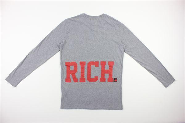 shirt tinta unita con stampa WOOLRICH | Shirts | WKTEE1245GRIGIO