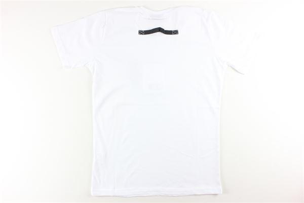 t-shirt tinta unita con stampa YES LONDON | T-shirts | JR2061/MBIANCO