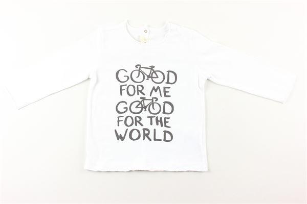 shirt tinta unita con stampa ZHOE & TOBIAH | Shirts | BJS8BIANCO
