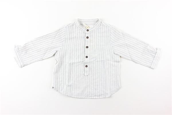 camicia fantasia a righe collo coreano ZHOE & TOBIAH | Camicie | VS73BIANCO
