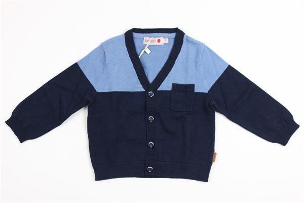bicolore con taschino BOBOLI | Cardigan | 715182BLUE