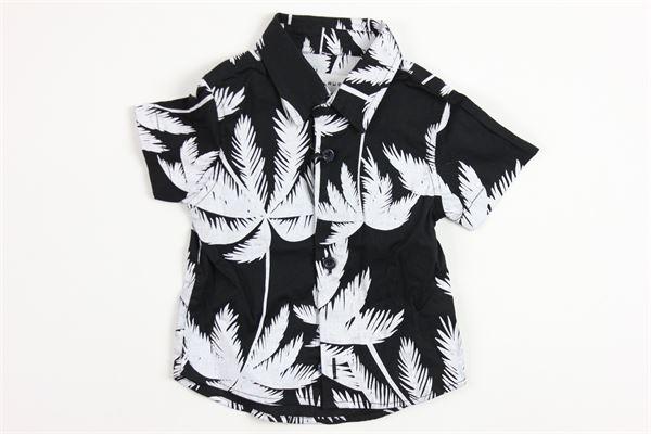 mezza manica con stampa BRIAN RUSH | Camicie | 181038BLACK
