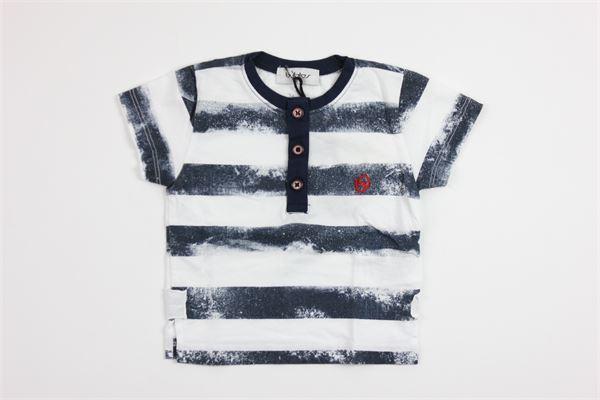stampa BYBLOS | T-shirts | BU4115BIANCO/BLU