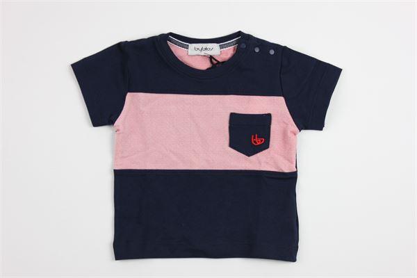 con taschino BYBLOS | T-shirts | BU4341BLU/ROSSO