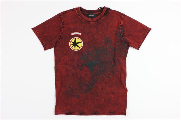 stampa aquila DIESEL | T-shirts | 00J3SUK405