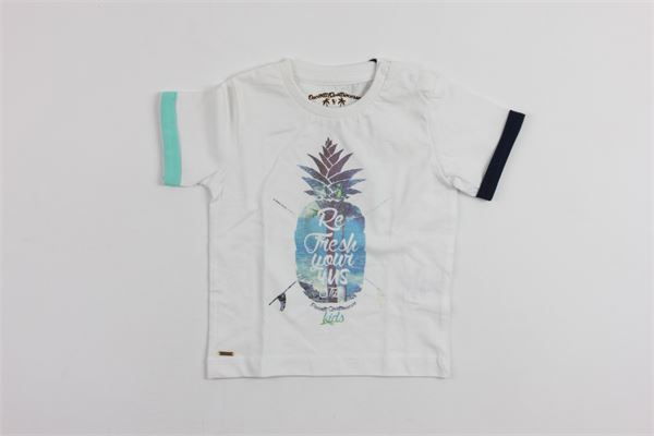 stampa ananas CESARE PACIOTTI | T-shirts | TSP409BWHITE