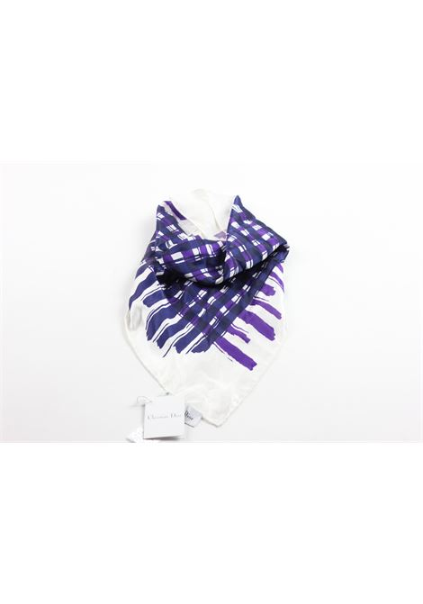 CHRISTIAN DIOR | Foulard | 2EBMECH1R7WHITE/PURPLE