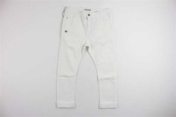 jeans cpon strappi DANIELE ALESSANDRINI | Pantaloni | 8944DENIM