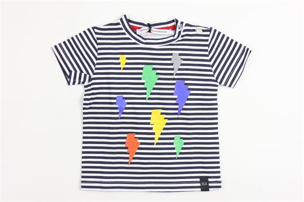 rigata DANIELE ALESSANDRINI | T-shirts | TS257BLUE