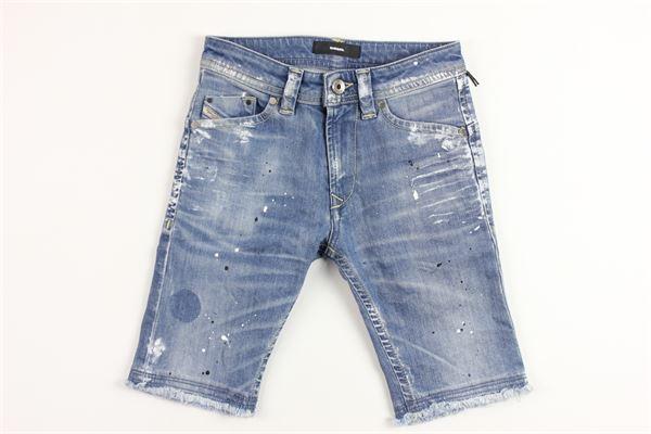 jeans effetto pittura DIESEL | Bermuda | 00J3CHDENIM