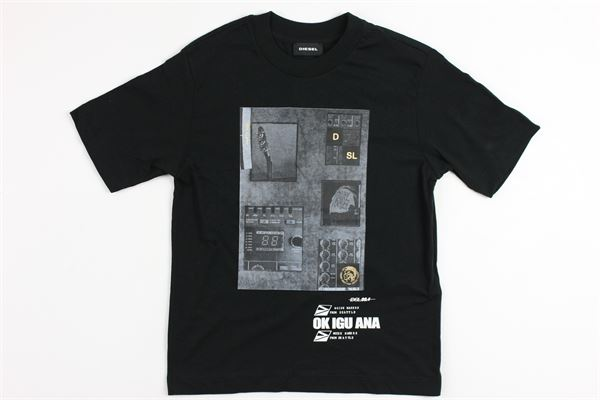 con stampa DIESEL | T-shirts | 00J3SNBLACK