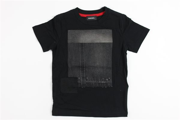 stampa toppe jeans DIESEL | T-shirts | 00K1RDBLACK