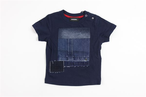 stampa toppe jeans DIESEL | T-shirts | 00K1RDBLUE