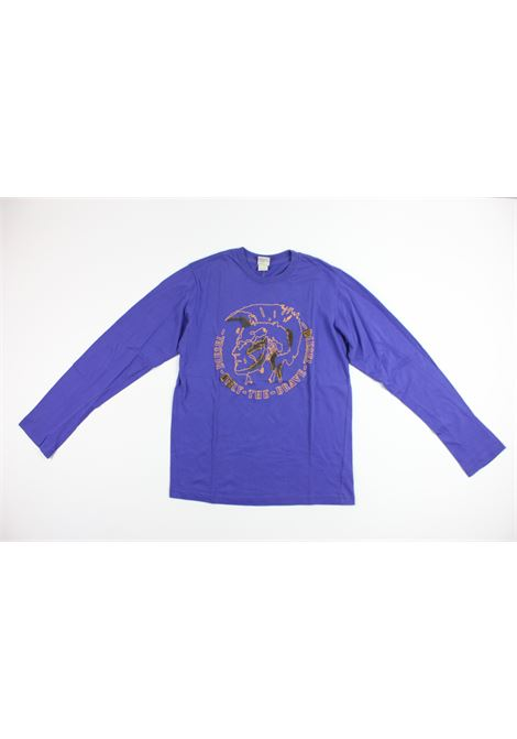 con stampa DIESEL | Shirts | SHIRT015PURPLE
