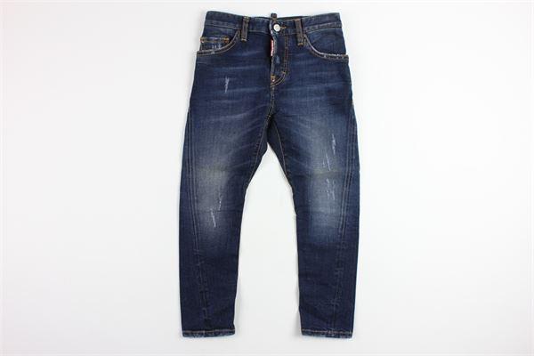 jeans con strappi DSQUARED | Pantaloni | DQ01PUDENIM