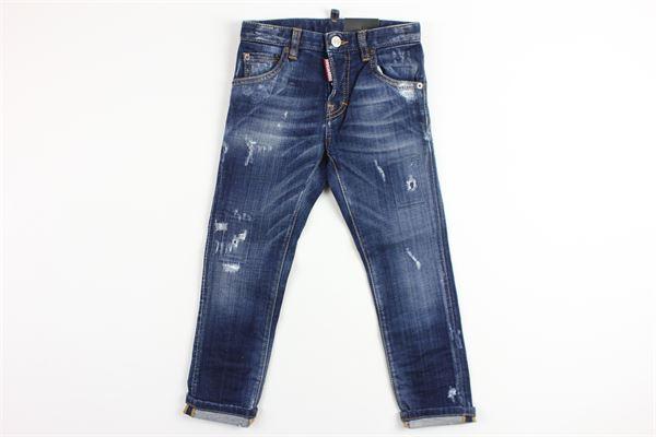 jeans con strappi DSQUARED | Pantaloni | DQ01PWDENIM