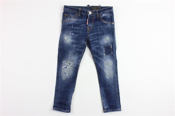 jeans con strappo DSQUARED | Pantaloni | DQ01PXD00L4DENIM
