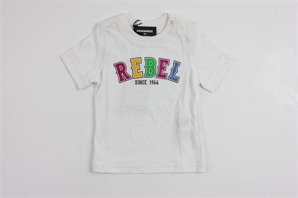 stampa rebel DSQUARED | T-shirts | DQ01XDD00JIWHITE