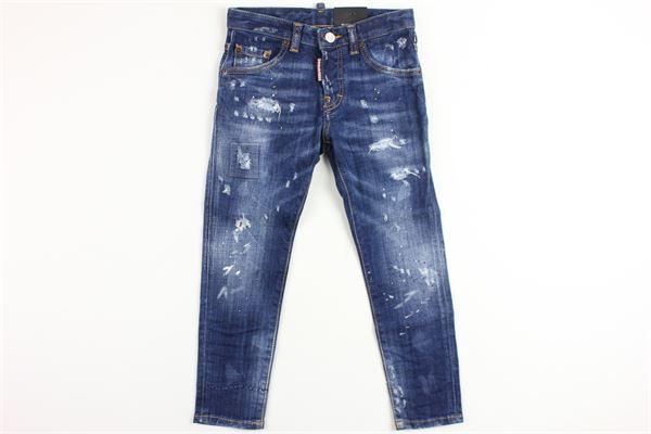 jeans con strappi DSQUARED | Pantaloni | DQ021DDENIM
