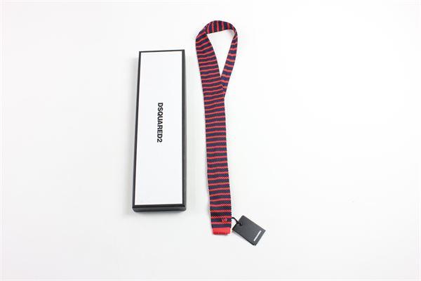 rigata DSQUARED | Cravatte | 9789BLUE/RED