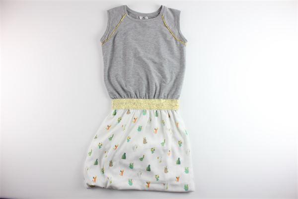 LE  VOLIERE   Dress   WS18D095CAGREY