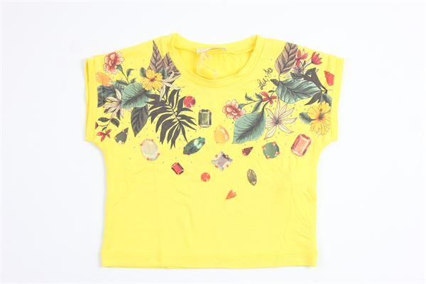 con brillantini LIU JO | T-shirts | K18111J5360YELLOW