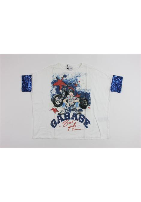 maniche con pailettes PARROT | T-shirts | 382TS65WHITE
