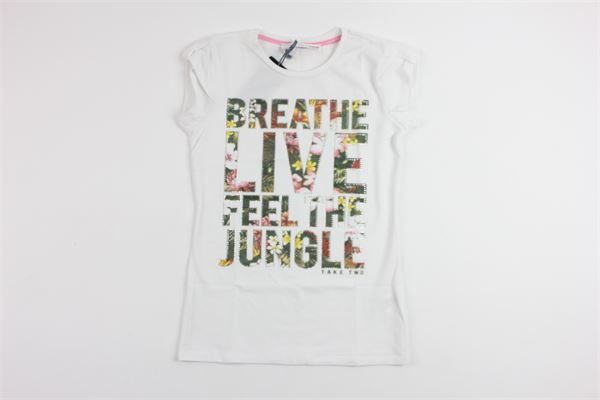 stampa con brillantini TAKE TWO | T-shirts | M03700WHITE