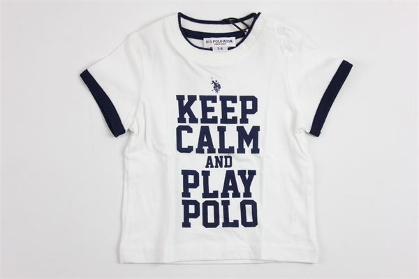 U.S. POLO   t_shirt   9912WHITE