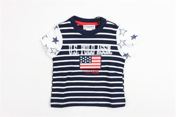 U.S. POLO   t_shirt   9913BLUE/WHITE