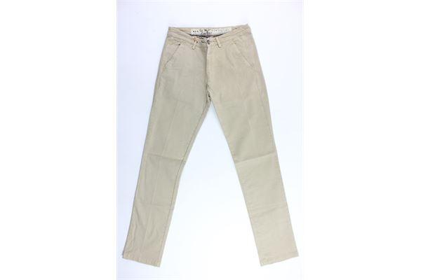 pantalone tasca america tinta unita 40WEFT | Pantaloni | WOLVER4247BEIGE