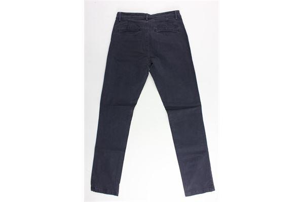 pantalone tasca america tinta unita 40WEFT | Pantaloni | WOLVER4247BLU