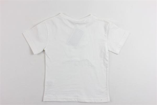t-shirt mezza manica in cotone tinta unita con stampa cactus AL AQUA PATOS | T-shirts | V1882CACTUSBIANCO
