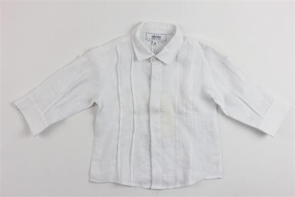 camicia manica lunga in lino ALETTA | Camicie | 8655BIANCO