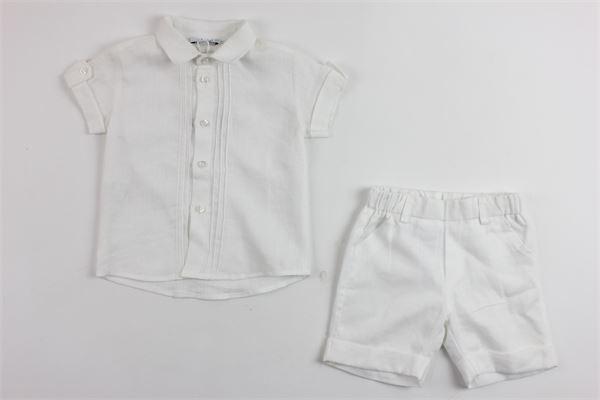completo camicia mezza manica più bermuda ALETTA | Completi | 8667BIANCO
