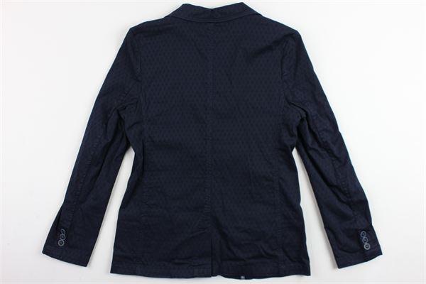 giacca tinta unita microfantasia in cotone ALETTA | Giacche | N88124TBLU