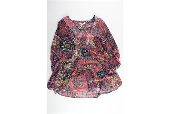 camicia lunga stampa fantasia AMELIE FOLIES | Camicie | 191095MULTICOLOR