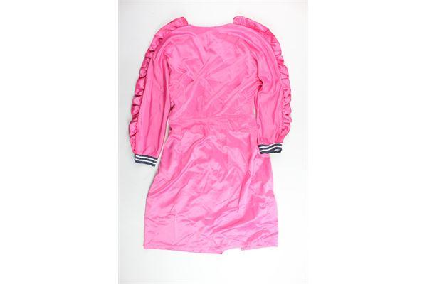 abito modelo kimono in raso tinta unit con stampa ANISYA   Abiti   P181553TSFUCSIA